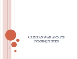 Crimean War and Its Consequences