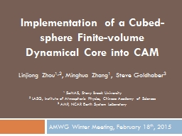 Implementation of a Cubed-sphere Finite-volume Dynamical Co
