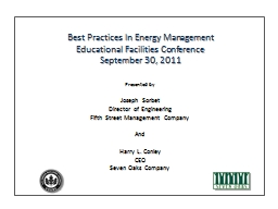 Best Practices In Energy Management