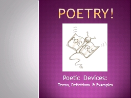 POETRY! PowerPoint PPT Presentation