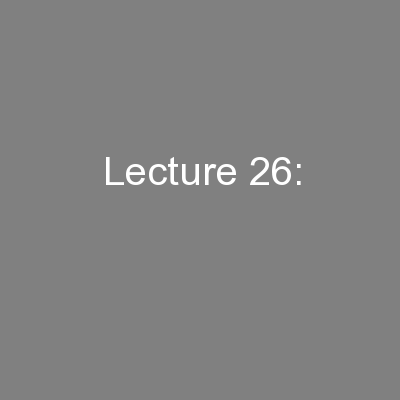 Lecture 26: