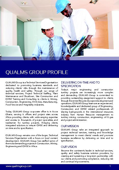 QUALMS Group is a Technical Services Organisationdedicated to promotin