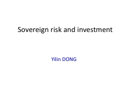 Sovereign risk and investment