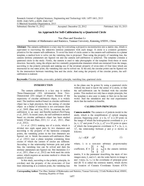 Research Journal of Applied Sciences, Engineering and Technology ...