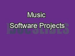 Music Software Projects