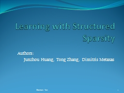 Learning with Structured PowerPoint PPT Presentation