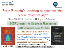 1 From Einstein's intuition to quantum bits: a new quantu