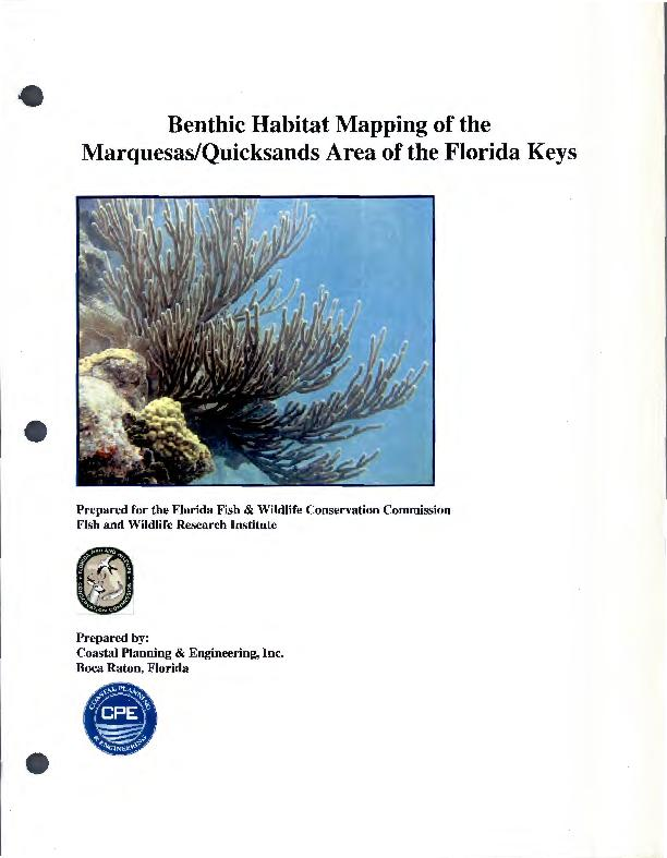 Benthic Habitat Mapping of the Marquesas/Quicksands Area of the Florid