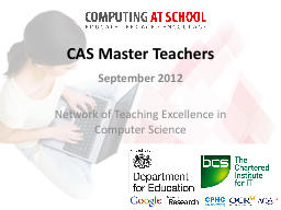CAS Master Teachers