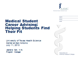 Medical Student Career Advising: Helping Students Find Thei