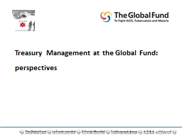 Treasury Management at the Global Fund: perspectives