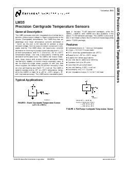 LM Precision Centigrade Temperature Sensors General Description The LM series are precision integratedcircuit temperature sensors whose output voltage is linearly proportional to the Celsius Centigra