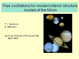 Free oscillations for modern interior structure PowerPoint PPT Presentation