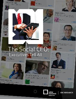 The Social CEO Executives Tell All   will bring a greater focus on social reputation be it for companies or CEOs