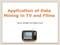 Application of Data Mining in TV and Films