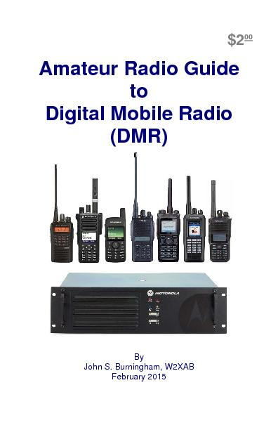 Amateur Radio Guide to Digital Mobile Radio  (DMR)