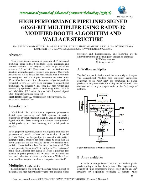 International Journal of Advanced Computer Technology