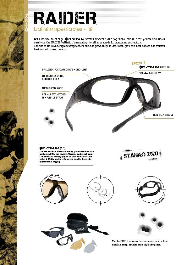 The  kit comes with spare lenses, a micro�bre pouch, a stra