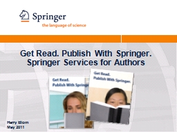Get Read. Publish With Springer.