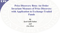 Price Discovery PowerPoint PPT Presentation