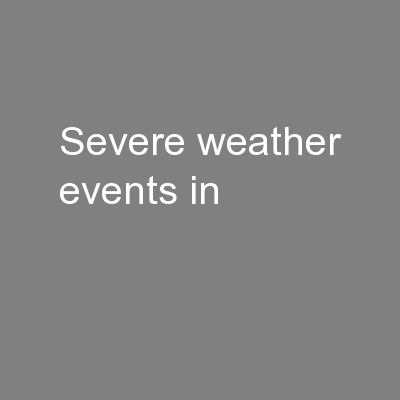 Severe weather events in