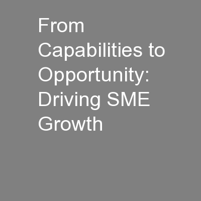 From Capabilities to Opportunity: Driving SME Growth