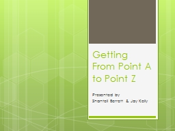 Getting From Point A to Point Z PowerPoint PPT Presentation