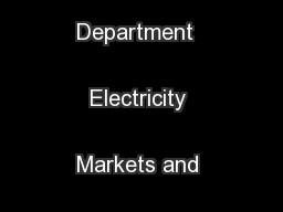 Energy Analysis Department  Electricity Markets and Policy Group ...