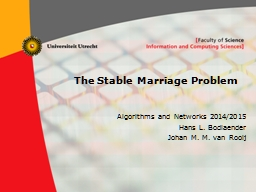 The Stable Marriage Problem PowerPoint PPT Presentation