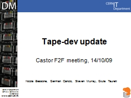 Tape-dev update PowerPoint PPT Presentation