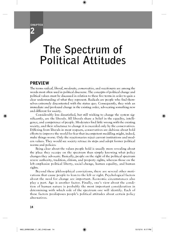 an analysis of the spectrum of political attitudes Shall study the spectrum of political attitudes as it relates in the united states we will begin with an analysis of the concept of political change, and.