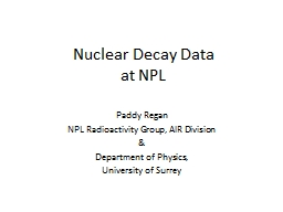 Nuclear Decay Data PowerPoint PPT Presentation