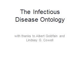 The Infectious Disease Ontology
