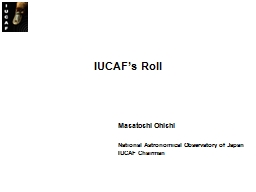 IUCAF's Roll