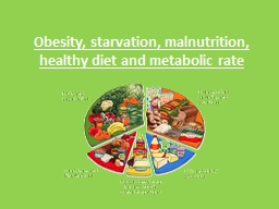 Obesity, starvation, malnutrition, healthy diet and metabol