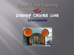 Travel Time Training PowerPoint PPT Presentation