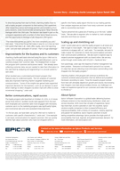 Success Highlights Solution  Epicor Retail CRM a robust software application designed to drive sales and competitive strength by enabling effective targeted marketing durable customer loyalty and adv