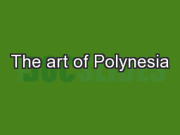 The art of Polynesia