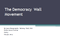 The Democracy Wall Movement