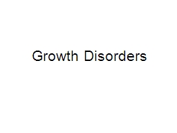 Growth Disorders