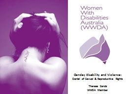 Gender, Disability and Violence: