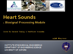 Heart Sounds PowerPoint PPT Presentation