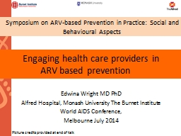 Engaging health care providers
