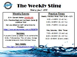 The Weekly Sting