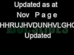 Updated as at  Nov   P a g e ULQFHHRUJHVDUNHVLGHQFHV  Updated