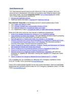 Detailed Hospital Checklist for Ebola Preparedness The U