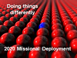 Doing things differently