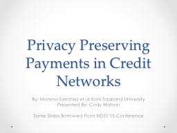 Privacy Preserving Payments in Credit Networks