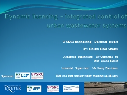Dynamic licensing – integrated control of urban wastewate PowerPoint PPT Presentation