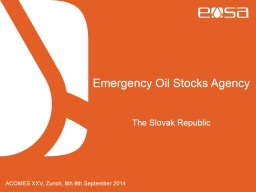 Emergency Oil Stocks Agency